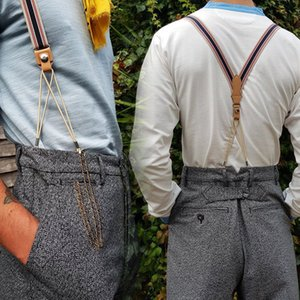British gentleman style straps Western trousers retractable buckle sling Trousers sling straps strap clip