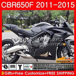 Corpo per HONDA CBR650F CBR 650 F piena CBR650F nero 11 12 13 14 15 16 42HC.16 CBR650 F CBR650 CBR 650F 2011 2012 2013 2014 2015 carenatura