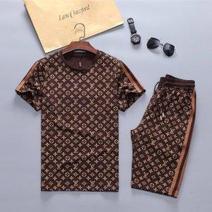 Nuovo 2020 Designer tuta Giacche modo stabilito in esecuzione Mens Sport maniche corte Suit Lettera Kit Pista Slim Abbigliamento Medusa Luxury Sportswea