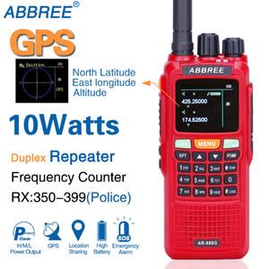 ABBREE AR-889G GPS SOS 10W 999CH Çapraz Band Tekrarlayıcı Gece Arka Işık Üç Band 134-174 / 400-520 / 350-390MHz (RX) Radyo Walkie Talkie