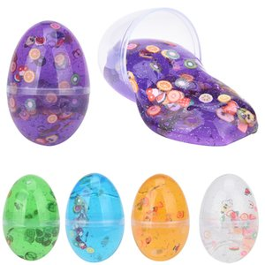 Egg Colorful Slime toy Slim antistress Spongy Rainbow Soft Slime Fluffy Kids Anti-stress Toys Relax Gifts Slim Clay toy