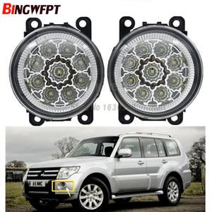2pcs / pair Car Styling Rodada Bumper lâmpadas halógenas de 55W Para Mitsubishi Pajero Montero Shogun 2006-2015 LED nevoeiro H11
