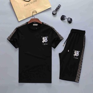 hot Mens Designer Fashion Tracksuit Letters Embroidery Luxury Summer Sportswear Short Sleeves Pullover Jogger Pants Suits O-Neck Sportsuit