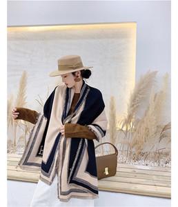 Écharpe en cachemire d'hiver de haute qualité Scolaire de style classique imprimé de style imprimé, de la laine de haute qualité Broadcloth 180 * 65cm
