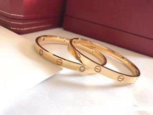 joyería de diseñador de la marca de la moda clásica rosa de oro 316 plata esterlinapulsera de Cartier con la caja original, tanto hombres como mujeres amor