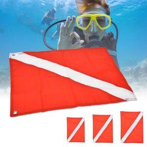 Marcador flotante señal RedWhite bucear Seguridad bandera de buceo snorkel Submarino Deporte Para equipo para piscina