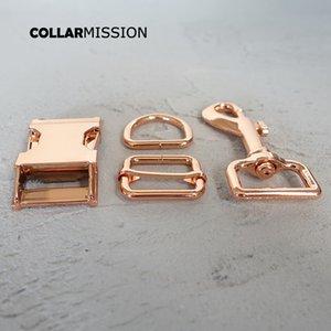 (металлическая пряжка + регулировка пряжки+D-образное кольцо+металлическая собачья застежка/комплект) 25 мм diy ошейник аксессуар прочное оборудование Kirsite slider