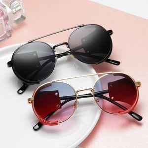 Fashion Steampunk Sunglasses Brand Design Metal Round Sunglass Men Women Vintage Punk Sun glasses UV400 Shades Oculos de sol