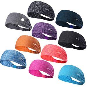 Esporte Headband Sob Sweat Wicking Stretchy Atlético Bandana Lenço Yoga Headband Envoltório principal Melhor para Sports Exercise L-018
