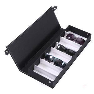 Black 8 Slot Glasses Storage Box Sunglasses Case Eyeglass Display Stand Holder