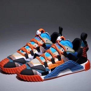 Dolce & Gabbana  marchio francese delle scarpe da tennis di lusso del progettista dei pattini casuali della piattaforma per le donne degli uomini Lace Up Trainer nappa  xshfbcl