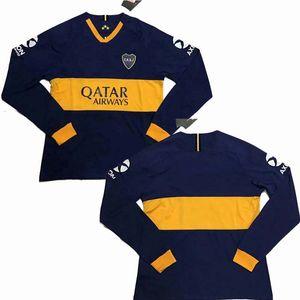 19 20 Boca Juniors manga longa maillots de camisa de futebol pé TEVEZ DE ROSSI 2019 de futebol 2020 camisa cheia Camiseta de futbol S-2XL