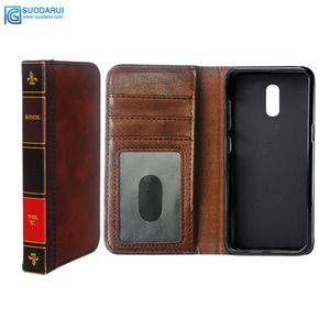Flip Leder Handy Fall für OPPO Reno Reno Z Cover Wallet Retro Bibel Vintage Book Business Pouch