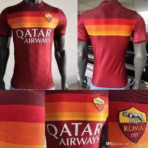 maillot de ayak as roma Player sürümü Dzeko PEROTTI PASTORE Zaniolo futbol forması roma 2020 2021 Totti formaları 20 21 futbol takımı forması