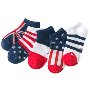 5 pairs   lot 2016 spring new Flag pattern cotton children socks 3 - 11 years children socks kids boys   girls boat socks