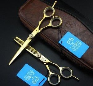 JOEWELL 5 0,5 дюйма / 6 Режущий 0,0 дюйма 6cr Золотой волос / Разбавление ножницы С 62HRC твердости С Gemstone Винт на ручке
