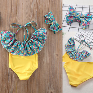 Girl Swimwear 2Pcs Toddler Kids Baby Girl Summer Bow Bikini Set Swimwear Swimsuit Bathing Suit 1-6Y