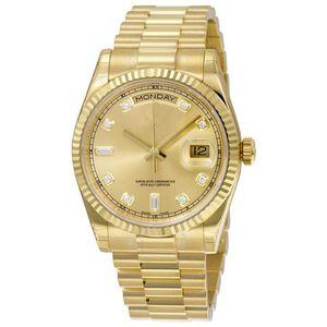 54 couleurs d'hommes de montres de luxe RLX auto-vent automatique 40mm montres 18K acier inoxydable DATEJUST Daydate Wristwatch pas de batterie 2813 44