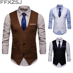 FFXZSJ Marca 2019 Europa edición accesorios para hombres coincide con traje de club nocturno traje chaleco chaleco chaleco hombres chaleco delgado