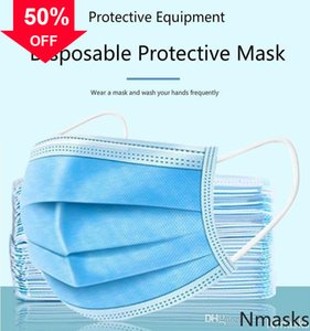 lGVxs Disposable 3-Layer printed Masks Breathable Earloop Mouth face Comfortable Mask anti dust saliva with certificate DHL fast