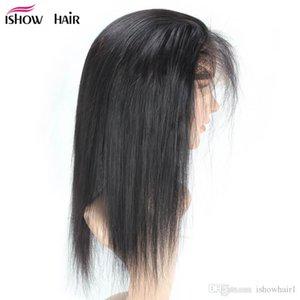 360 Lace Frontal 8A Brazilian Straight Hair 8-22inch Free Part Closure Unprocessed Brazilian Peruvian Indian Malaysian Straight Virgin Hair