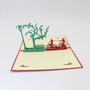 3D Handmade Paper-cut Bicycle Lover Paper Invitation Greeting Cards with Envelope Propose Postcard Wedding Creative Gift