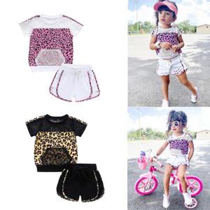 Laufen Sets 2021 Baby Atmungsaktive Fischnetz Weiche Sonnenanzug Tasche Outfits Sommer Kleidung Infant Kinder Mädchen Leopard Patchwork Kleidung Set