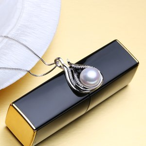 FENASY Pearl Jewelry wedding engagement jewelry sets,Natural Pearl pendant Necklace women Silver earrings,pearl earrings female
