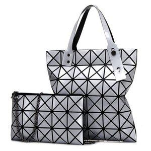 Overseas2019 Frau Diamond Lattice Twinset Handtasche Single Shoulder Fold Hundert Wechsel Laser Kind und Mutter Paket