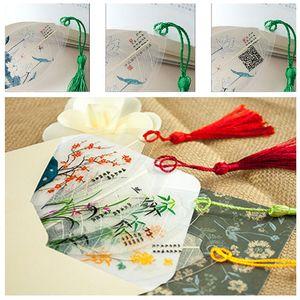 Criativo Personalizado Elegância Tassel Bookmarks Chinês Vento Colecionáveis Folhas Veia Bookmarks Bonito Clássico Papelaria Marcadores DH1449 T03