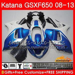 Kit Pour SUZUKI KATANA GSXF 650 GSX650F Bleu Perle 08 09 10 11 12 13 14 18HC.4 GSXF-650 GSXF650 2008 2009 2010 2011 2011 2013 2013