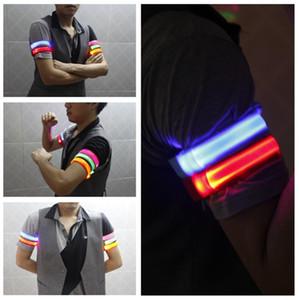 Partido banda Aviso LED luminoso Braço Pulseira Outdoor Ferramenta Night Light Segurança LED Flash Light Strap LED Ciclismo Arm Decoração 350pcs T1I1694