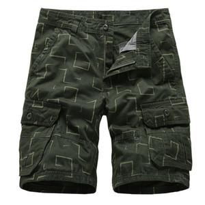 Sommer Camo Cargo Shorts Männer Casual Baumwolle Lose Arbeit Shorts Männer Military Multi Pocket Taktische Baggy Hose Plus Größe 29-38