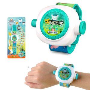 2020 new explosive children's watch gift kids toys watch children's cartoon watches projection electronic watch Blue Animals & Nature Watche