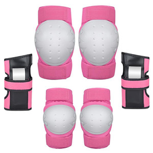 6 Pcs / set High Density Cycling Knee Lachespive Wrist Guard Adjustable Bodow Pad Rolling Roller Water Thers سميكة متينة