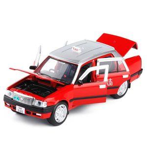 Tirare RCtown Mini lega di figura Indietro taxi auto giocattolo chiaro suono per i bambini Box-imballato