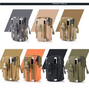 El deporte del filtro impermeable de cintura táctica de camuflaje correa de cintura del paquete de Fanny bolso militar al aire libre Senderismo bolsa de la cintura para la linterna de teléfono VT0927