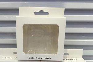 Papier universel PVC en plastique paquet de vente au détail pour Apple Airpods paquet d'écouteurs Housse de protection de la peau emballage de mode de luxe Box 2019 New Hot