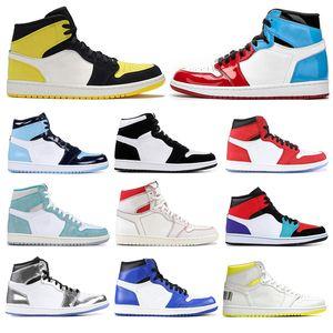 Nuevo arrivel zapatillas de baloncesto para hombre 1s Obsidian Fearless UNC Yellow SATIN SHATTER BACKBOARD KAWHI LEONARD zapatillas deportivas para mujer talla 5.5-12