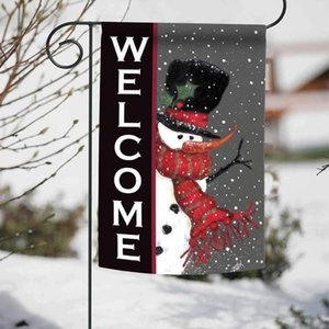 Snowman Welcome Decorative Winter Christmas Double Sided Garden Flag Garden Decoration Christmas Decorations