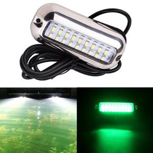 27 LED 3.6W rosso / / blu subacquea pontone dello specchio di poppa di pesca subacquea verde chiaro Waterpro del coperchio della lampada impermeabile