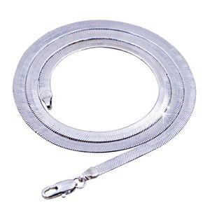 925 Посеребренной Змея цепи ожерелье Унисекс Flat Snake Chain Link Hip Hop Collares ожерелье для женщин мужчин Ювелирных аксессуаров
