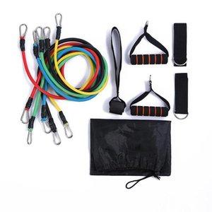 11pcs / set Tração da corda aptidão exercícios de resistência bandas Tubes Pedal Excerciser Condicionamento Físico equipamentos crossfit Workout Yoga