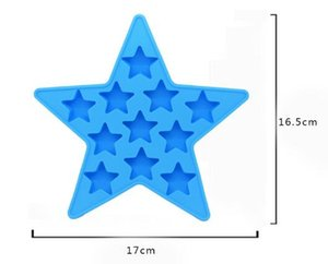 DHL Silicone Star Shape Ice Cube Maker Tray Mold Summer Bar Drink Whiskey Mould Ice Cream Tools Nx