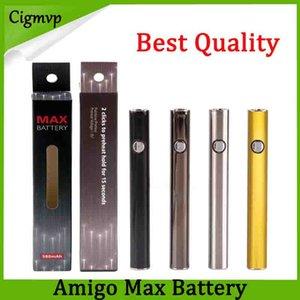 100% d'origine Amigo Max préchauffer la batterie 380mAh Tension Variable VV Charge Inférieure 510 Batterie Pour Liberty V9 Épaisse Réservoir De Cartouche D'huile