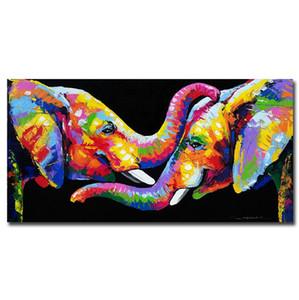 Peint à la main HD Imprimer Abstrait Animal Éléphant Art Peinture à L'huile Sur Toile Mur Art Décoration De La Maison de Haute Qualité A77