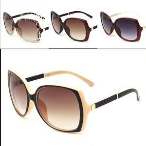 Mulheres Oversized Sunglasses Ultraviolet Proof Plastic Sunglass Praça selvagem Joker Sapo Espelho leopardo preto Moda 12yr D1