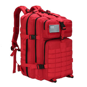 50L Тактического рюкзака Люди Открытого Туризм Отдых Путешествие рюкзак Обучение пригодность гимнастика сумка Trekking Army Molle Рюкзак