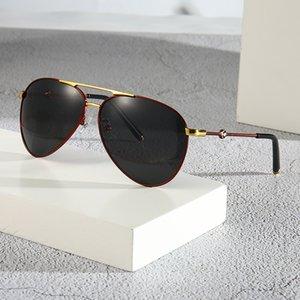HBK Pilot Sunglasses Women Decorative Rhinestone Brand Designer Copper Frame HD Clear lens Double Bridge Sun Glasses