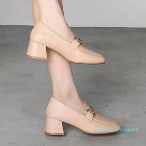 MALEMONKEY 932394 Vintage 2020 Nouveau Bureau Printemps Automne Décoration Métal Mode Haute Qualité Femmes Chaussures t03